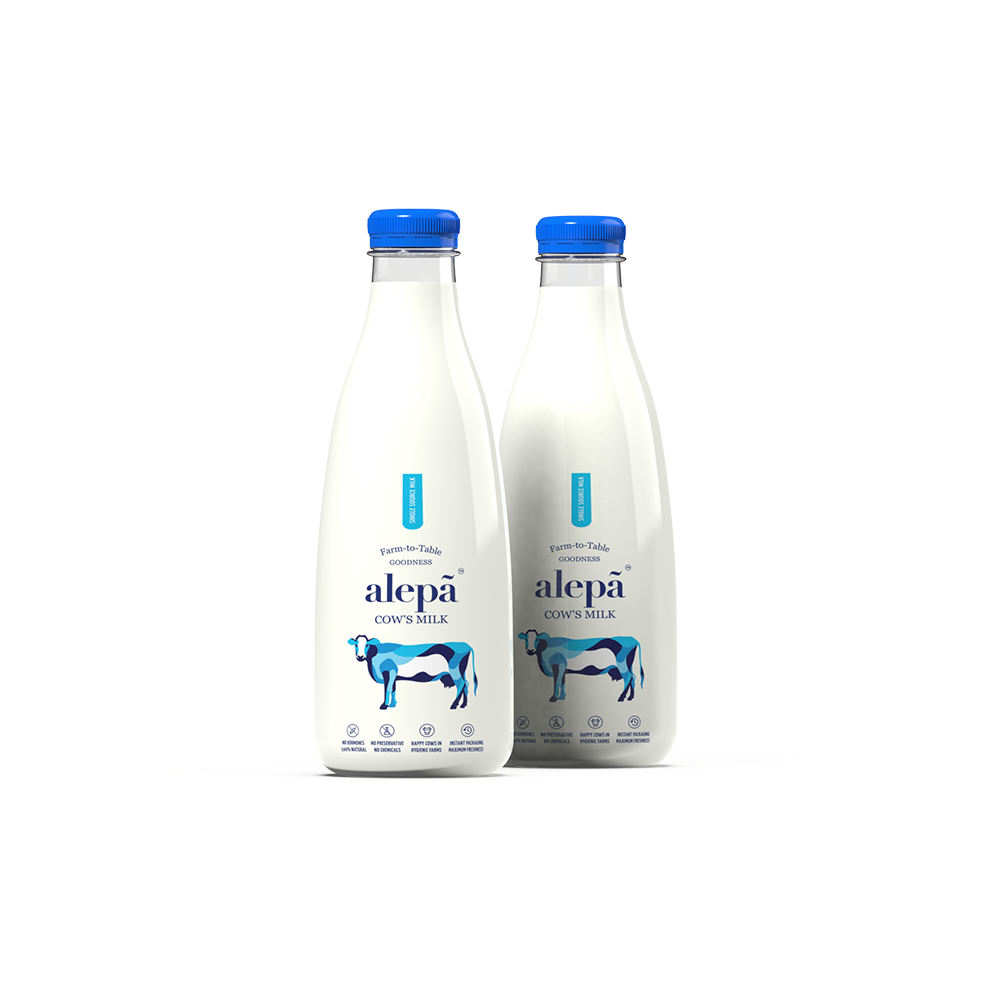 Alepa Cow's Milk 1 Litre Bottle